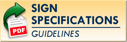 Sign Specifications Guidelines